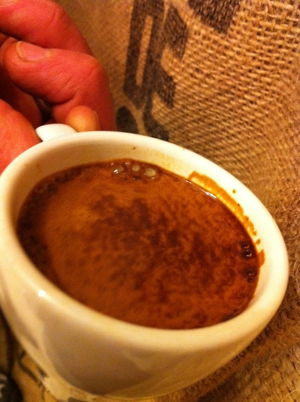fresh cup of espresso