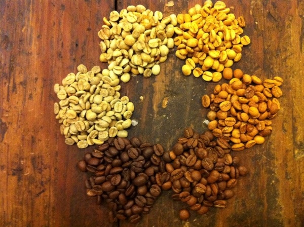 another look at beans during the roasting process