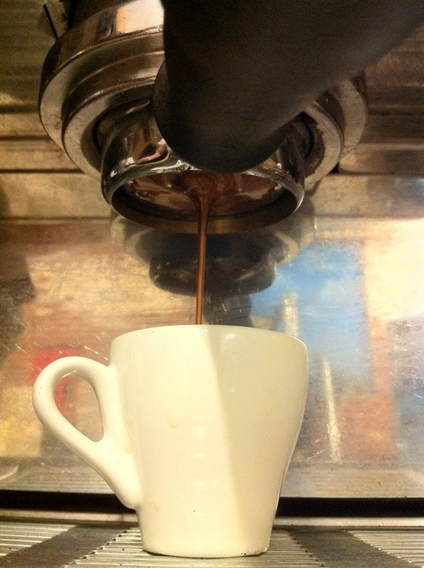 Espresso being pulled