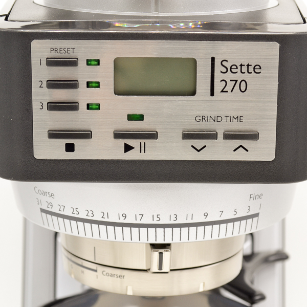 Baratta Sette 270 Controls and Settings Close-up