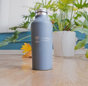 Corkcicle with the Utopian Coffee Co. logo